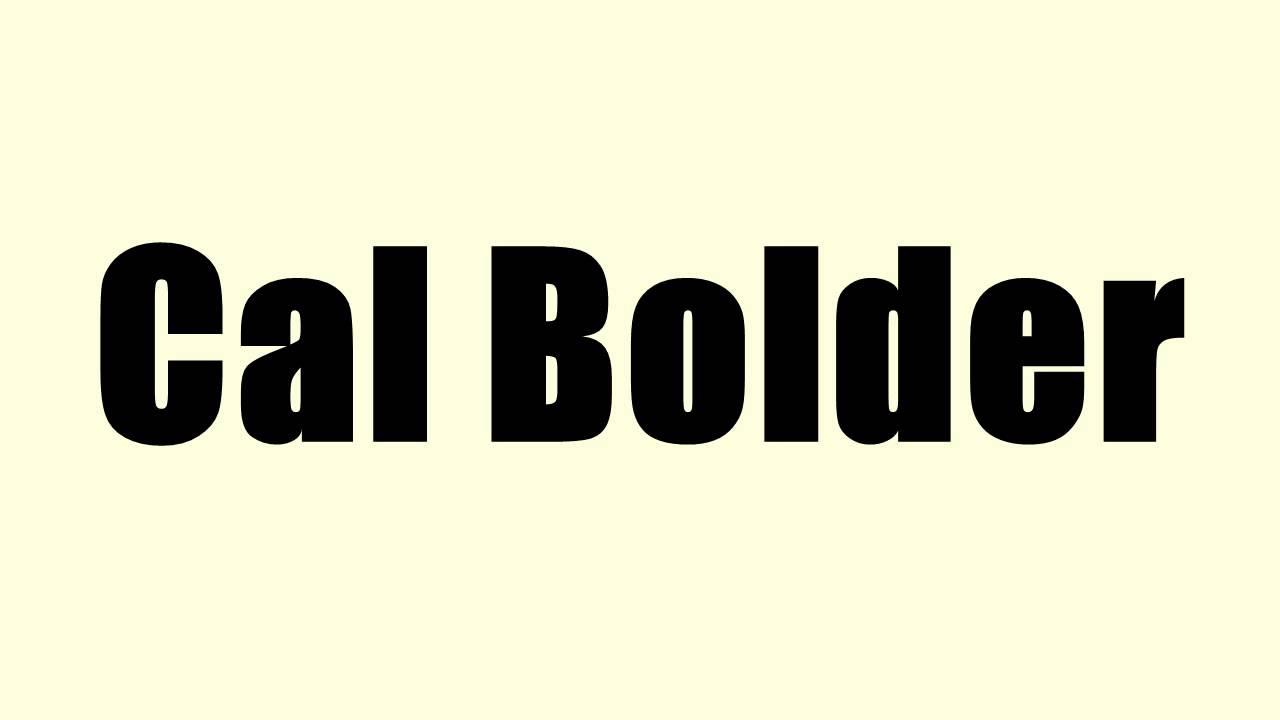 cal bolder muscle