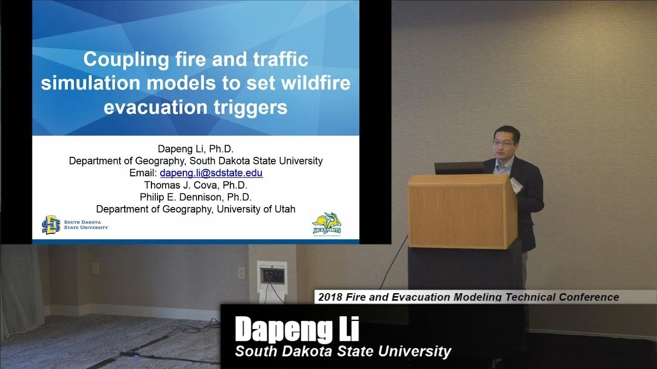 Setting Wildfire Evacuation Triggers by Coupling Fire and