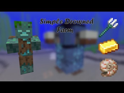 Simple And Efficient Trident/Nautilus Shell For Minecraft 1.14.4+ (Originally By Ilmango)   Tutorial