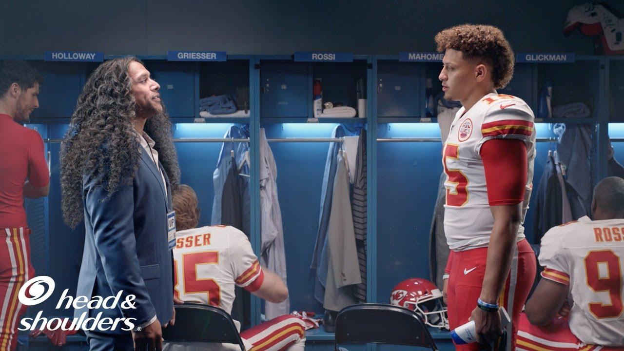 NFL's Patrick Mahomes and Troy Polamalu Talk Hair During Self ...