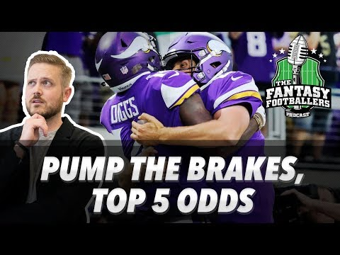 Fantasy Football 2017 - Top 5 Odds, Pump the Brakes, TNF, Mailbag - Ep. #435