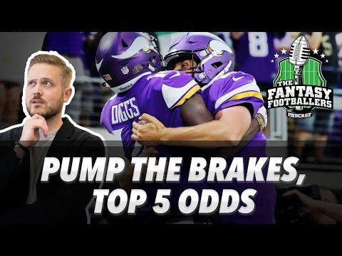 Fantasy Football 2017 - Top 5 Odds, Pump the Brakes, TNF, Mailbag - Ep. #435