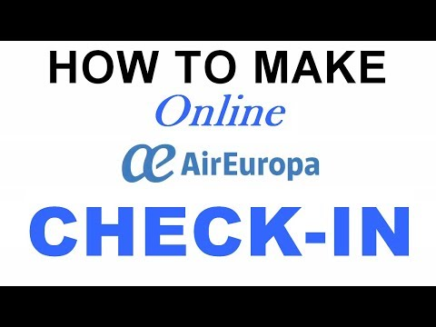 How to make Check-In with Air Europa
