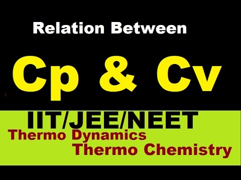 IIT/JEE Relation In Cp & Cv (Heat Capacity at Constant Pressure & Volume). Thermo Chemistry(Part-38) Mp3