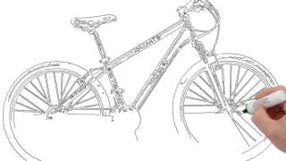 How to draw Bicycle