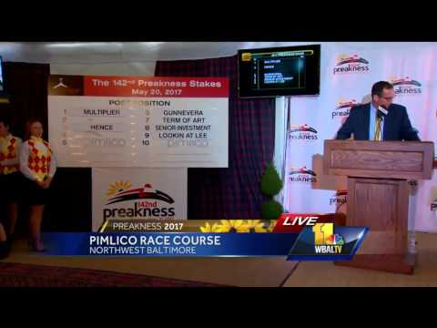 Video: Preakness Post Positions drawn live on 11 News