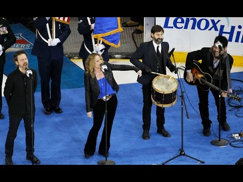 """Amy Helm & The Handsome Strangers - """"The Star-Spangled Banner"""" - Madison Square Garden - NY Rangers"""