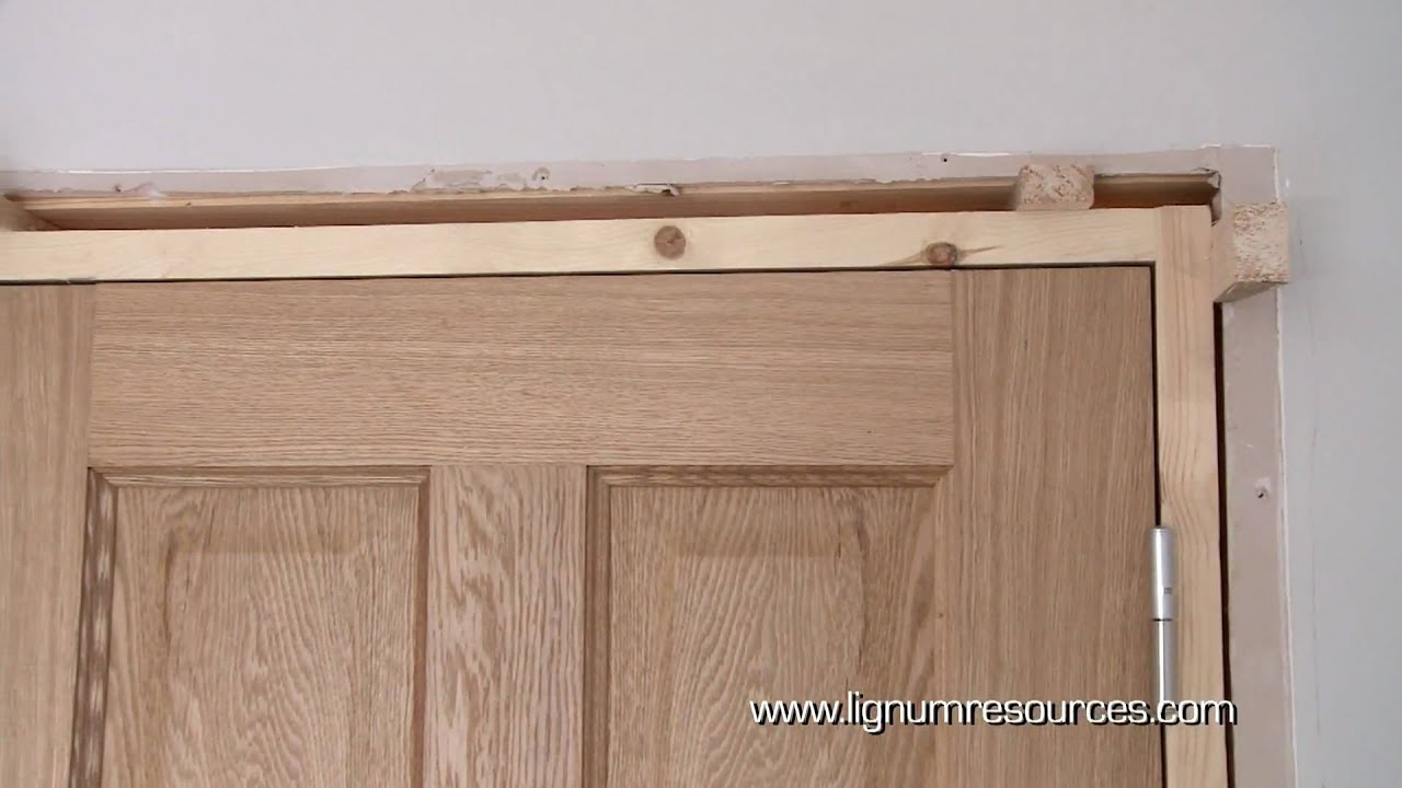 How to install a prehung doorset youtube - Installing a lock on a bedroom door ...