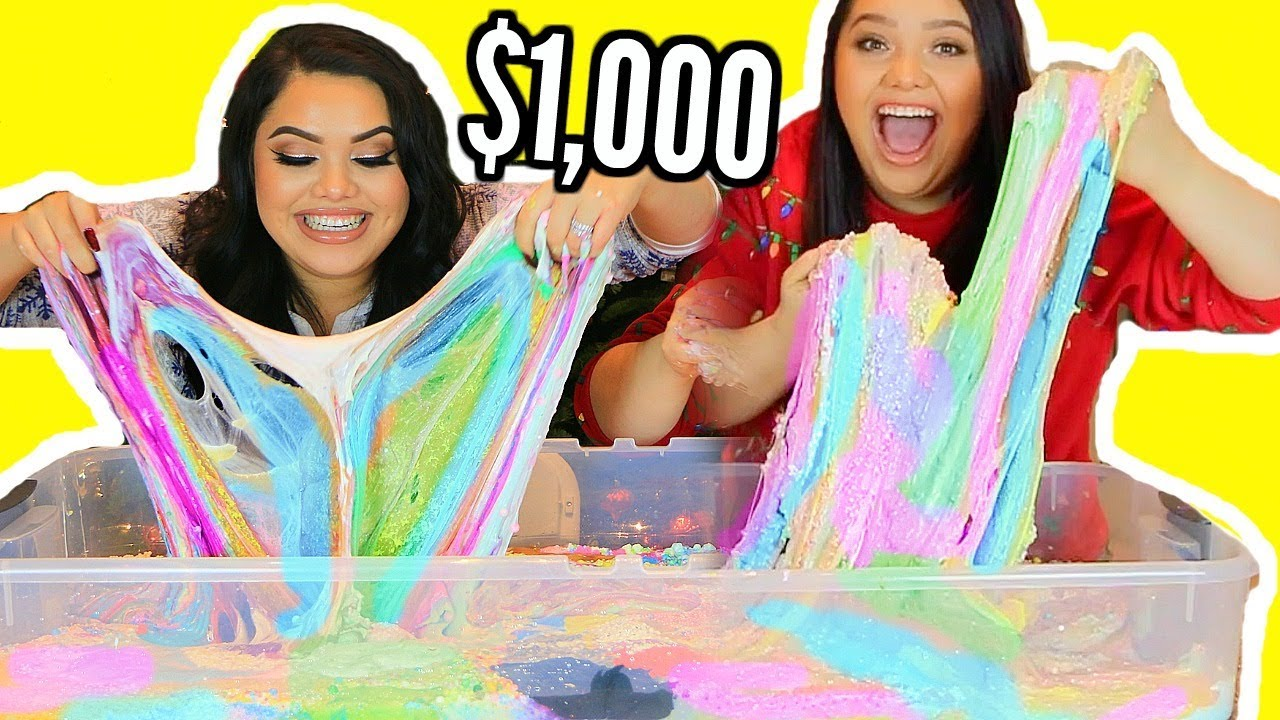 $1,000 SLIME SMOOTHIE! With My Twin Sister! I BOUGHT $1,000 OF SLIME