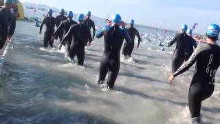 Ironman 70.3 Mallorca 2014 start swim