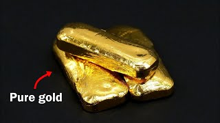 Turning old jewelry into pure gold bars thumbnail