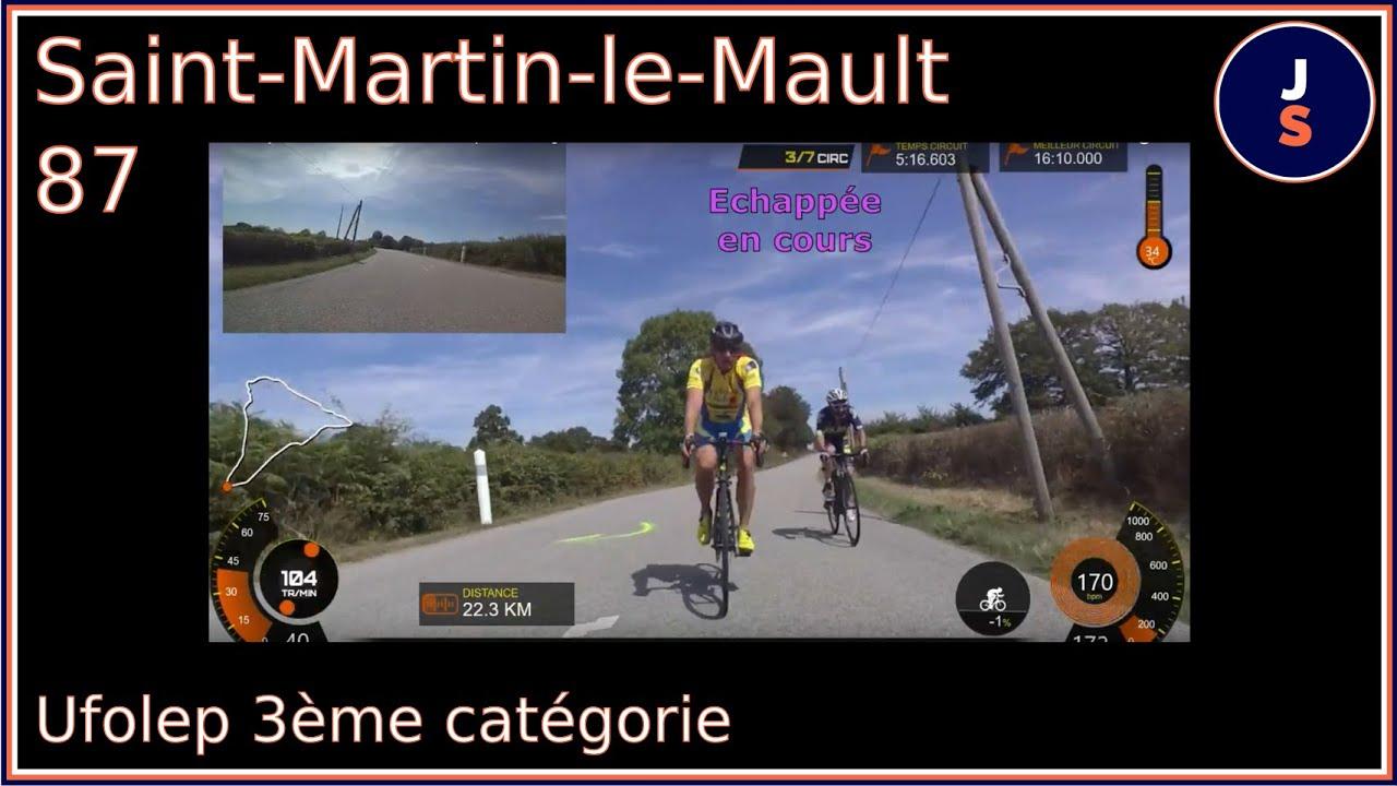 Course Saint Martin le Mault Ufolep 3ème catégorie 24/08/2019