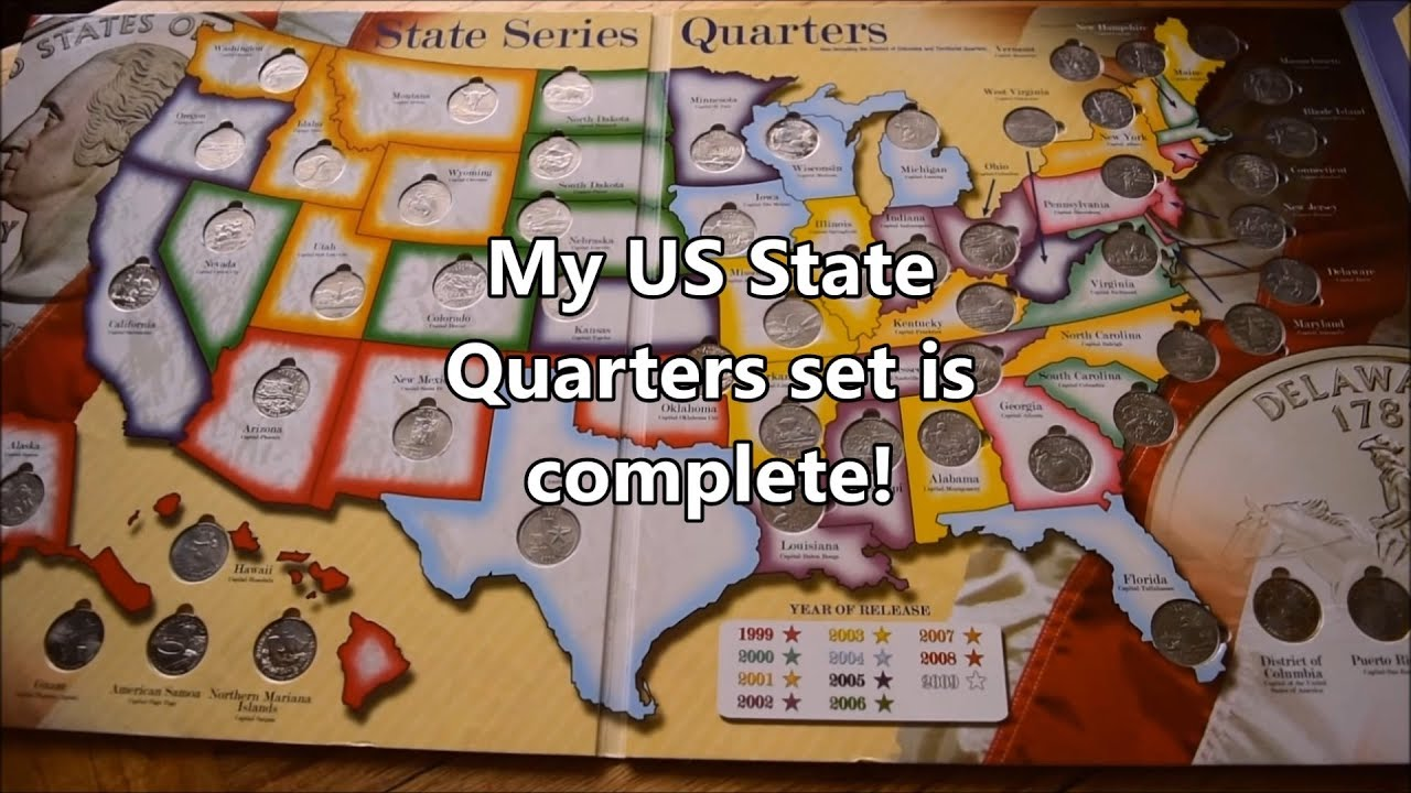 Us State Quarters Collection Youtube - Us-map-for-quarters