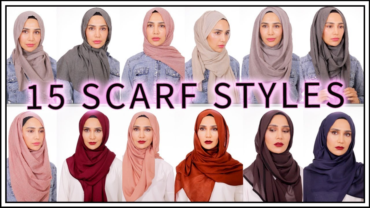 15 Easy Hijab Tutorials Amena Youtube