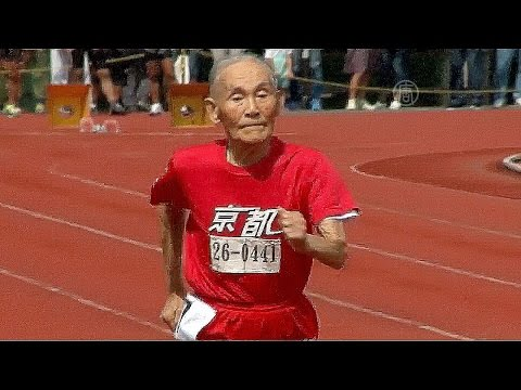 Японец в 105 лет установил рекорд на стометровке (новости)