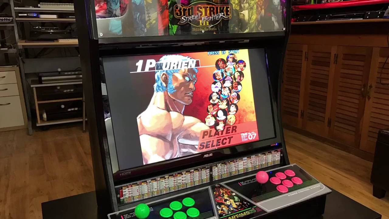 3rd Strike Mini Arcade Cabinet - YouTube