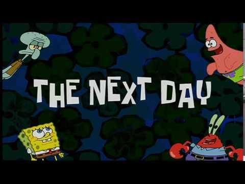Spongebob Timecard :The Next Day