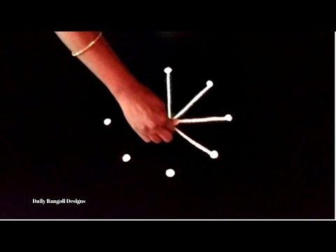 Karthigai Deepam Kolam Designs   Easy Simple Rangoli Muggulu   Padi Kolam With 3 Dots