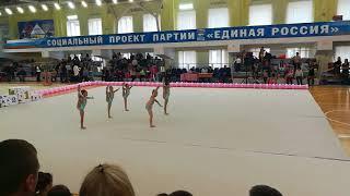 Соревнования по худ. Гимнастике. Групповые . Саратов. Девочки2010-2011 г.р
