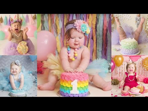 First 1st Birthday Photoshoot Ideas For Baby Girl Photosession Ideas At Home Partydecoration Baby Youtube