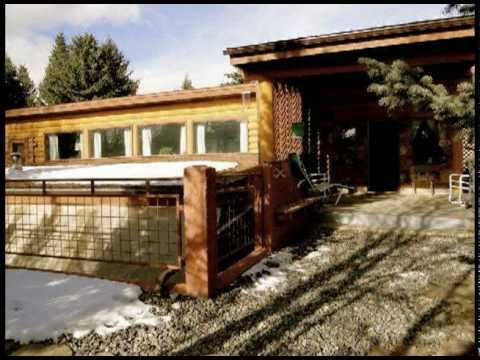 Log Earth Sheltered Home For Sale in Dubois WY Near