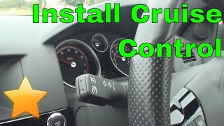 How to Fit/Activate Cruise Control