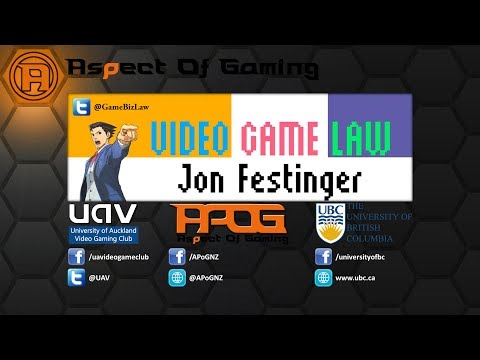 Video Game Law | a lecture by Jon Festinger from The University of British Columbia