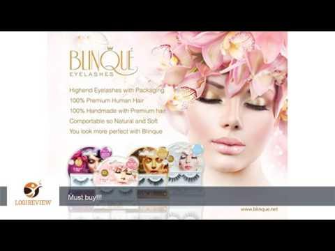 Blinque False Eyelashes 2Pairs Plus DUO eyelashes Black (415) | Review/Test