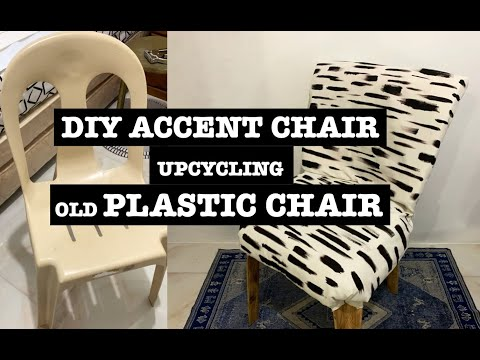 DIY // Accent Chair //  Upcycling Old Plastic Chair