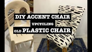 Diy Accent Chair Upcycling Old Plastic Chair Youtube