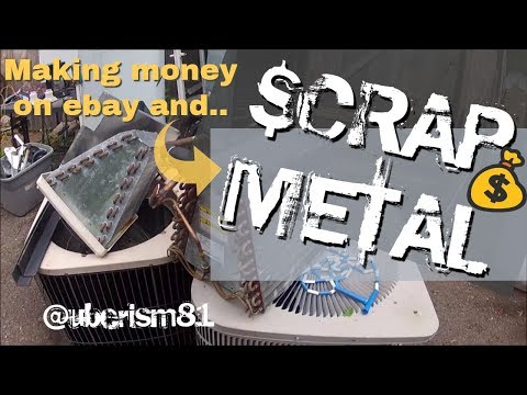 Scrapping out furnaces air conditioners for copper and parts. Vlog Scrap pick up at drop off bin, .