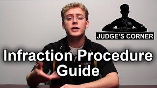 Infraction Procedure Guide (IPG) - Judge's Corner #21