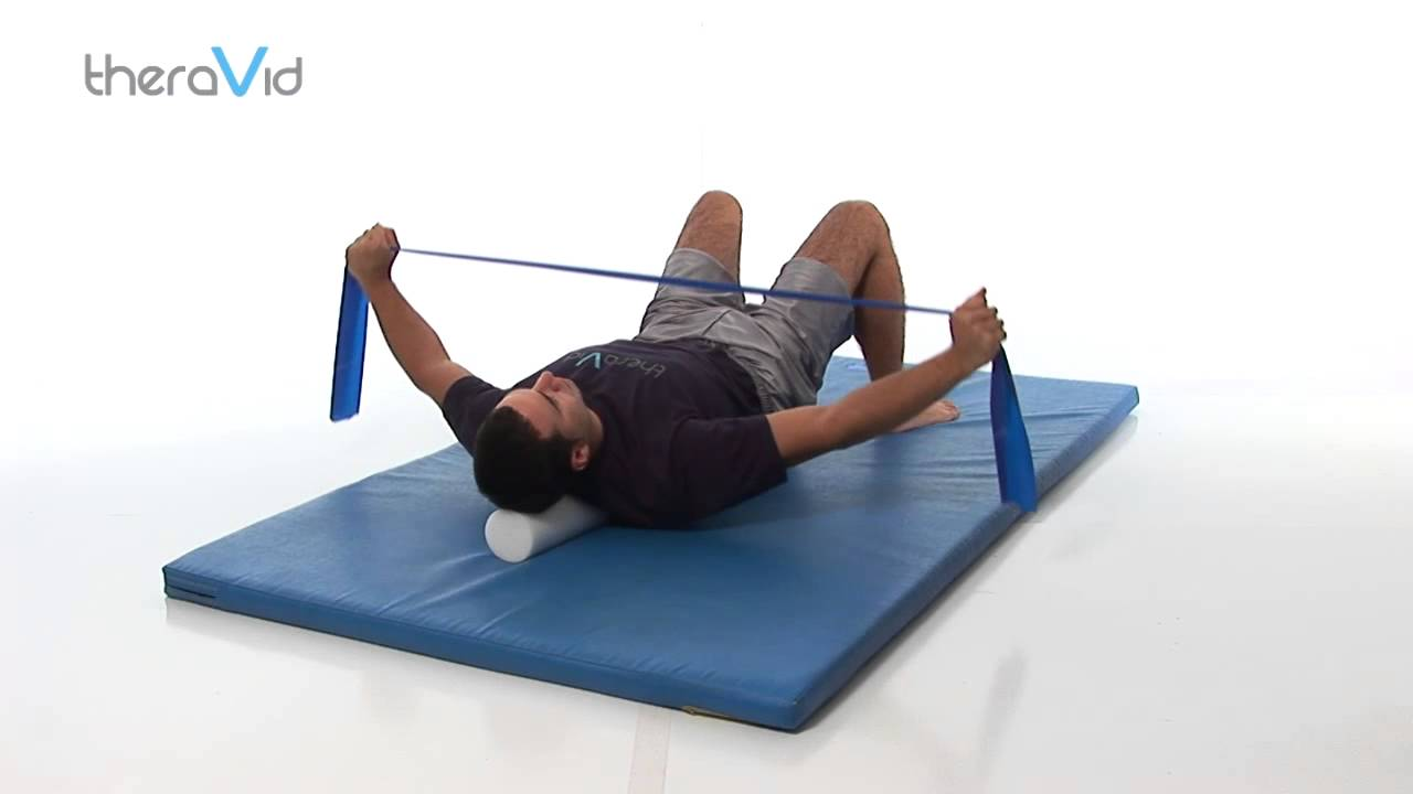 Horizontal Abduction & Retraction on Foam Roll - YouTube