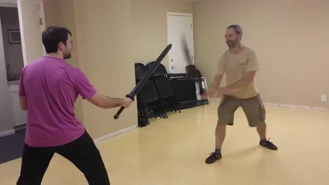 Sparring 2 - Jian vs  Dao ( Broadsword ) Foam Sword Fun