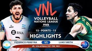 Argentina vs Australia | VNL 2021 | Highlights | Federico Pereyra vs luke Smith