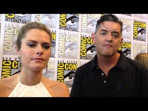 """""""Psych"""" Stars Maggie Lawson and Timothy Omundson at Comic-Con 2013"""