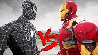 Repeat youtube video BLACK SPIDERMAN VS IRON MAN - MARK 46