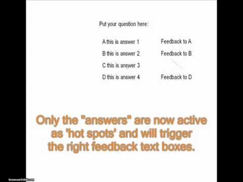 Create Multiple Choice questions on 1 slide and full Navigation in
