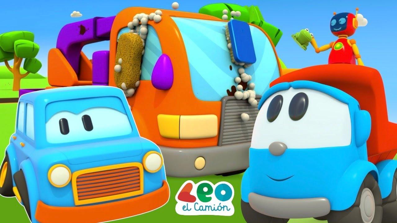 Leo el Camión y Coches Inteligentes - Camiones grandes - Videos educativos para niños