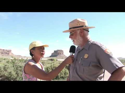 Helicopter lands on Fajada Butte Chaco Canyon