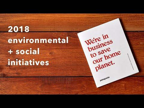 Patagonia Environmental & Social Initiatives Booklet (2018)