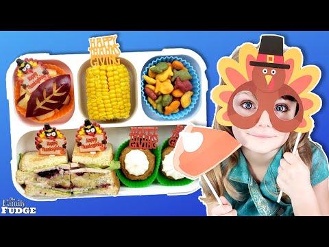 Thanksgiving Themed School Lunch Ideas + MOIST Maker Sandwich!