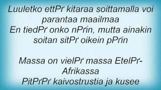 Eppu Normaali - Afrikka, Sarvikuonojen Maa Lyrics