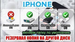 Создание резервной копии IPHONE на внешнем диске или флешке