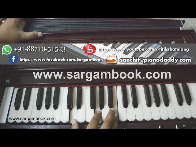 Sanu Ek Pal Chain (Raid) Harmonium Tutorial ~ Sargam Book