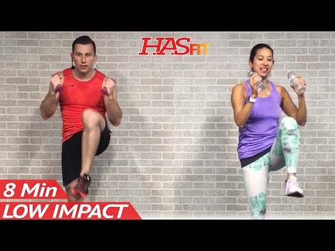 8 Min Low Impact Cardio Workout for Beginners Easy Workouts at Home HIIT Beginner Workouts Routine