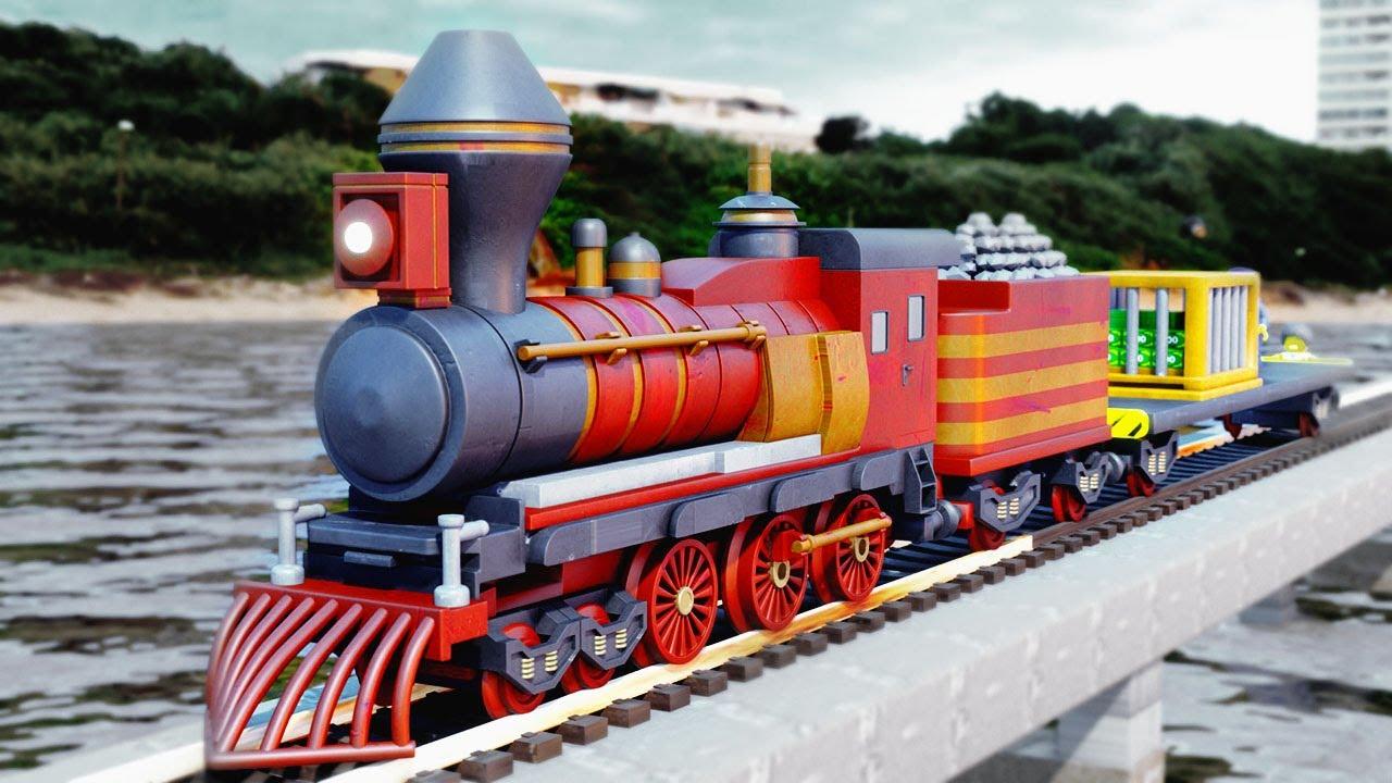 Lego Police Thief Movie - Train Money Rob Fail - Choo choo train kids videos