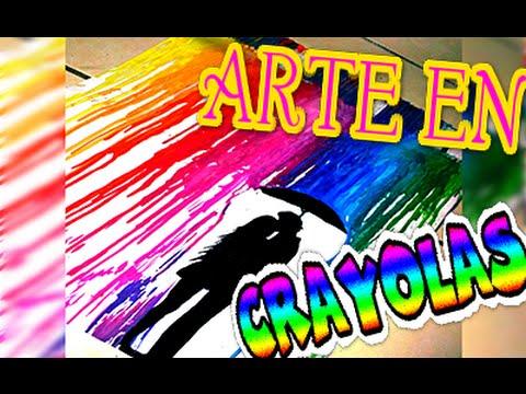 Diy cuadro con crayolas derretidas arte en lienzo nqueh for Cuarto de xime ponch