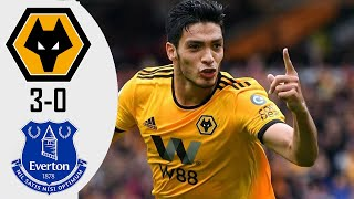 Wolverhampton vs Everton 3 0 Highlights & Goals
