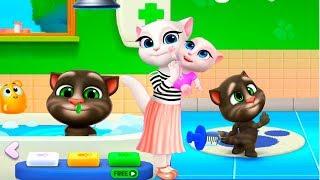 Мой Говорящий Том 2 НОВАЯ ИГРА #1 Друзья Анджела Хомяк Виртуальный питомец для детей Игровой мультик